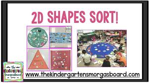 2d Shapes Anchor Chart 2d Shapes Sorts And Anchor Charts The Kindergarten