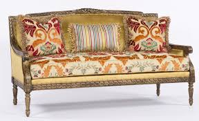 sofa couch loveseat elegant wood carved frame sofa