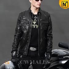 black leather moto jacket cw806035 cwmalls com