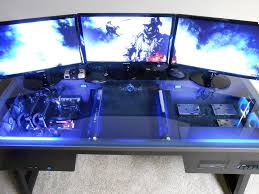 i ve seen pictures of computers mounted inside glass desks where would i go about ing something like this they look really cool