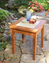 tile topped outdoor table