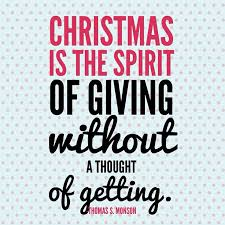 quotes about giving at christmas