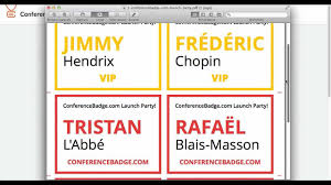 How To Create More Than One Name Badge Design For The Same