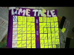 How To Make A Time Table For School Students With Charts