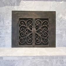 arched glass fireplace doors. Hand Forged Fireplace Screen Custom Arched Screens Glass Doors Frameless