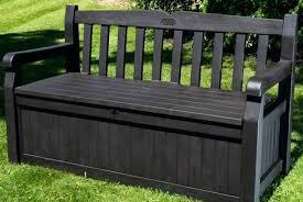 Patio Storage Bin Large Deck Box White Outdoor Bench Garden