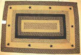 primitive country area rugs primitive country area rugs lovely applique star black tan braided jute rug primitive country area rugs