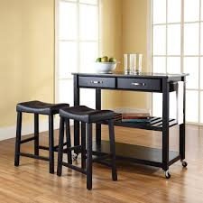 Granite Kitchen Cart Crosley Black Kitchen Cart With Black Granite Top Kf300544bk The