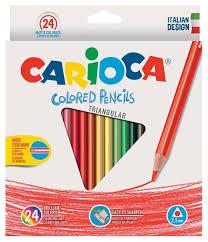Купить <b>Carioca набор цветных карандашей</b> Triangular 24 цвета ...