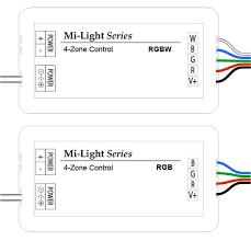 milight wifi smart multi zone rgb controller 6 amps channel remote