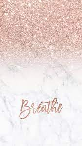 Rose gold glitter ombre white marble ...
