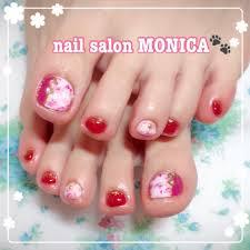 冬お正月フットマーブルミディアム Nail Salon Monica のネイル