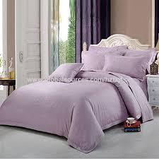 cotton lilac jacquard bedding set for