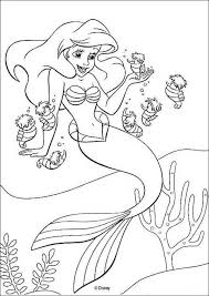 Disegni Della Sirenetta Ariel Da Stampare E Colorare Album