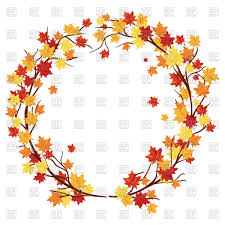 round autumn frame with maple leaves vector image vector ilration of borders and frames to zoom
