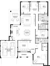 4 bedroom house plan and living room image collections l shaped house floor plans australia
