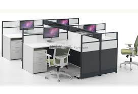 modern office cubicles. L-type Four Seats Modern Office Cubicles R
