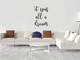 The dream wall decor online store offers large selection of discounted wallpaper and wall borders from major us and canadian manufacturers, polyurethane crown moldings and trims, ceiling medallions, wall ornaments, interior columns, decorative corbels etc. Amazon Com Shaping It Was All A Dream Wood Sign Master Bedroom Decor Headboard Wood Sign Air Bnb Wood Sign Laser Cut Wood Sign Word Quote Wood Sign Wood Wood Sign Wooden Home