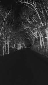 Winter Scary Road Nature Mountain Dark ...