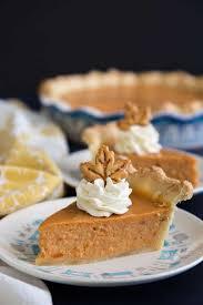 sweet potato pie slice. Beautiful Sweet Sweet Potato Pie Slices On Plates Intended Potato Pie Slice O