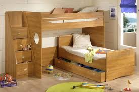 Homeowner Bedroom Great Wooedn Style I Shape Bunk Beds Storage Stairs  Design 888x592 Bunk Beds With Storage