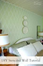 stenciled accent wall tutorial create an amazing focal point in just a few hours stencil chevron how to