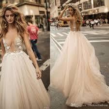 discount 2017 sheer sexy berta bridal champagne summer wedding