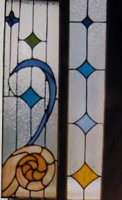 custom made nautical stained glass door inserts