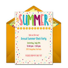 Free Summer Party Invitations In 2019 Free Online Birthday