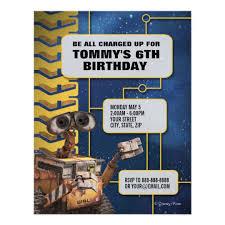 email birthday invitation wall e birthday invitation zazzle com