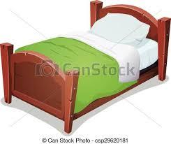 kids bed clip art. Plain Art Wood Bed With Green Blanket  Csp29620181 Kids Clip Art D