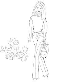 barbie doll coloring pages drawn book