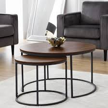 solero set of coffee tables round in
