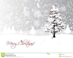 Designs For Christmas Cards Free Christmas Card Design With Winter Tree And Stock Vector