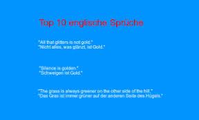 Top 10 Englische Sprüche