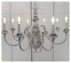 crystal chandelier lighting shabby chic rustic whitewashed grand