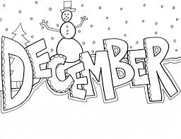 December Coloring Pages Seasons Coloring Pages Coloring Pages
