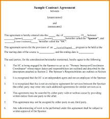 How To Write A Contract Between Two People Sample Agreement Template ...