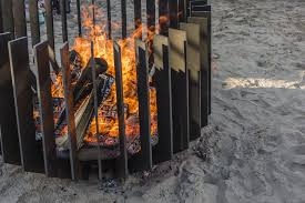 Wood Burning Firepit Anemone Wood 2 Metalfire