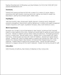 Resume Templates: Personal Chef
