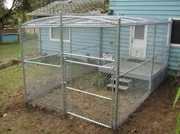 65 chain link kennel with top
