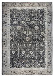 rizzy home panache area rug black gray tan ivory 2