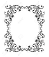 vintage frame tattoo designs. Vector - Vintage Baroque Victorian Frame Border Monogram Floral Ornament Leaf Scroll Engraved Retro Flower Pattern Decorative Design Tattoo Black And White Designs R