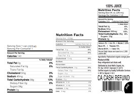 soda nutrition parison