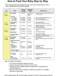 How To Feed Your Baby Step By Step Chart Baby Solid Food