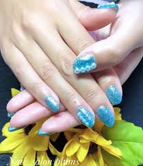 ターコイズブルーラメネイル 京都宇治のネイルサロン nail