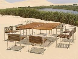Modern Outdoor Furniture from Beltempo wood and metal contemporary