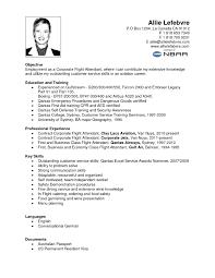 Flight Attendant Resume Example Perfect Resume