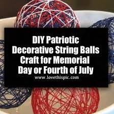 Decorative String Balls Best DIY Patriotic Decorative String Balls Craft For Memorial Day Or Fourth