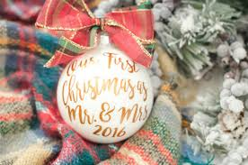 Exciting Image Of I Do Pin First Christmas Wedding Ornament For Our First Christmas Tree